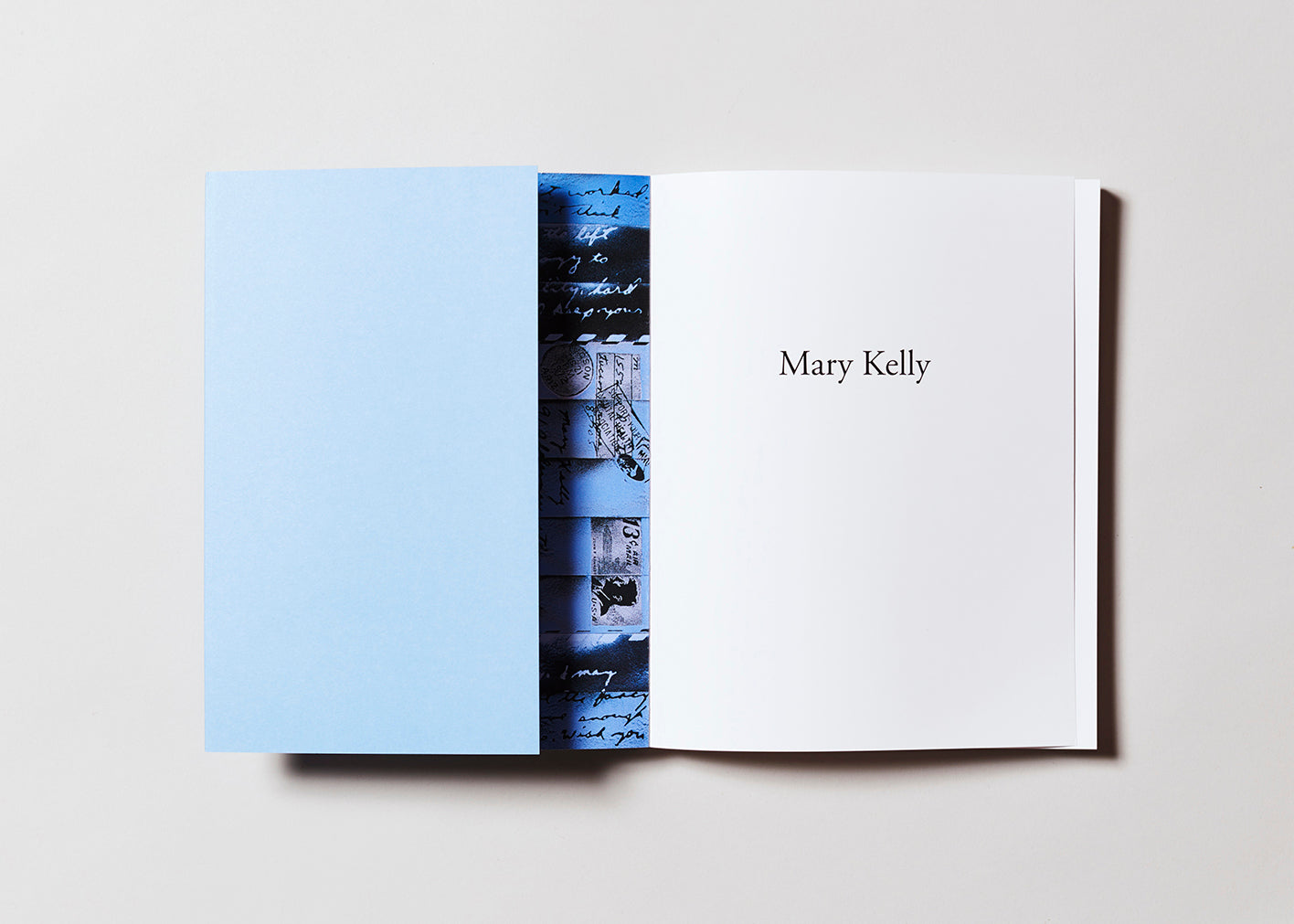 Mary Kelly artist catalogue published by Mitchell-Innes and Nash, designed by Pacific Books