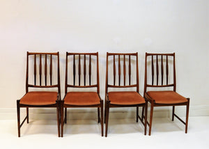 Set of four Rosewood Diningchairs Darby, Torbjørn Afdal for Bruksbo, Norway