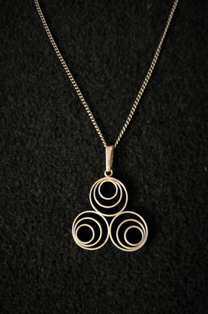 Silver Necklace with circles 1950-60s, Finland