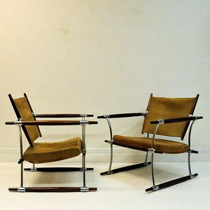 Pair of 'Stokke' chairs by Jens H. Quistgaard - Nissen, Denmark 1966