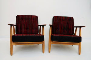 The Cigar armchairs GE240 by Hans J. Wegner - Denmark 1960`s