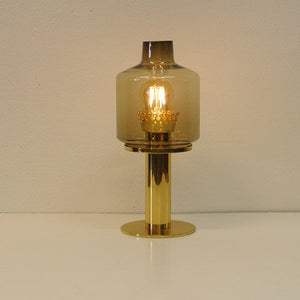 Glass and Brass Table Lamp B102 by Hans-Agne Jakobsson, 1960s - Sweden