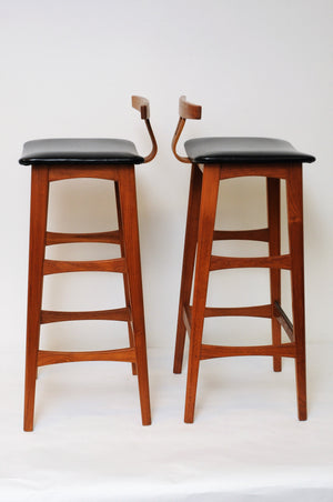 Barstools of teak, Erik Buch - out of stock