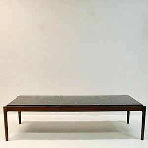Vintage Coffeetable with black stone by Ib Kofod Larsen, Säffle Möbelfabrik 1960s