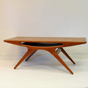"Teak coffee table ""Smiley"" by Johannes Andersen, Silkeborg - Denmark"