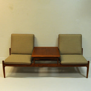 Sofa module set Saga with table by Gunnar Sørlie 1958, Norway