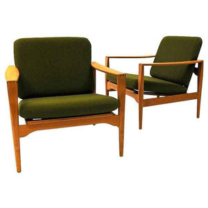 Danish Midcentury easy chairs Èk` by Illum Wikkelsø for Niels Eilersen 1960s