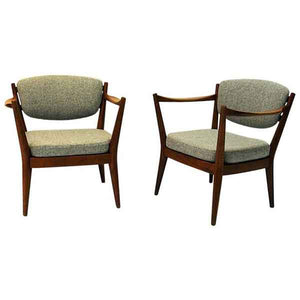 Teak Pair of the Kamin chair by Kayser & Relling, Norway 1950s