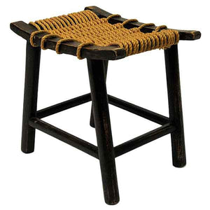 Norwegian ropeseat oak stool by Anne-Lise Aas 1930/40s