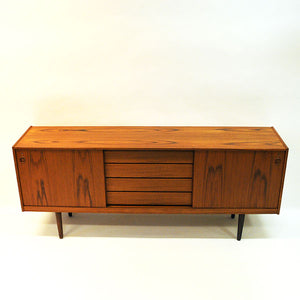 Teak Sideboard with beautiful patterns by Gustav Bahus 1960s - Norway