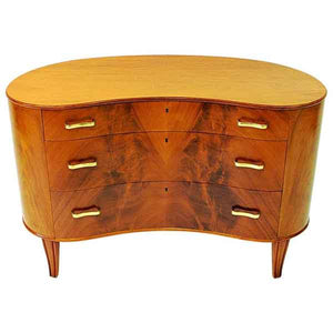 Mahogany Chest of Drawers by Axel Larsson for Bodafors, Sweden 1940s