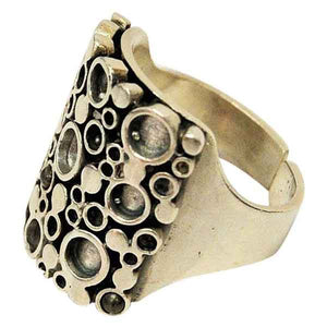 Norwegian Silverring with circles by Marianne Berg for Uni-David Andersen 1960s