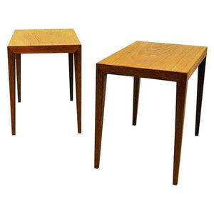 Danish Teak sidetables by Severin Hansen 1950`s