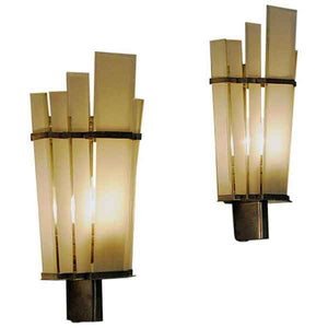 Art Deco Wall sconces pair by Zenith - Germany 1930-1940s