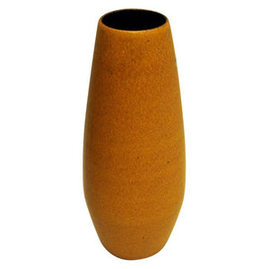 Yellow Ceramic vintage Vase by Scheurich W. Germany 1960s