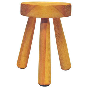 Swedish Pine stool by Ingvar Hildingsson 1970s