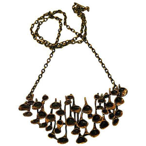 Decorative Large Bronze necklace by Hannu Ikonen, Finland 1970s.