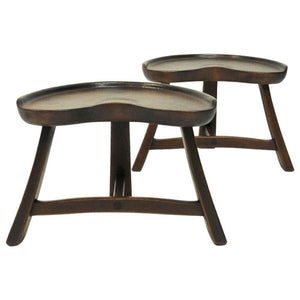 Norwegian Pine stool pair from Krogenæs Møbler 1970s