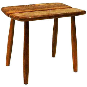 Vintage Oak stool by Carl Gustaf Boulogner 1950s Sweden
