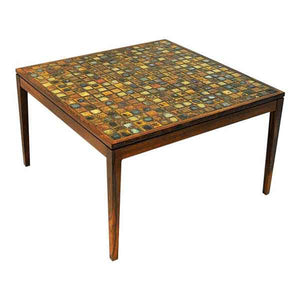 Coffe or Livingroom rosewoodtable with small ceramic tiles - Denmark 1960s