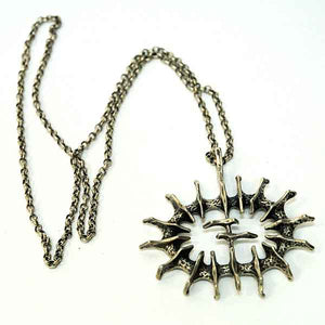 Silver vintage pendant 'Abstract Sun' by Studio Else & Paul- Norway 1970s