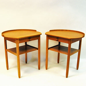 Pair of Roundtop side tables by Engström & Myrstrand for Bodafors, Sweden 1964