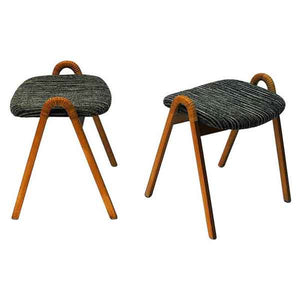 Midcentury stools by Møre Lenestolfabrikk 1950s, Norway - pair of two