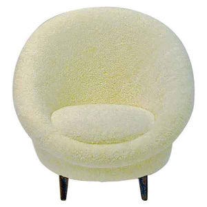 Midcentury Florida Easy chair in sheepskin from Vatne - Norway 1950s
