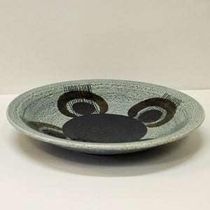 Ceramic handpainted dish Kurbits by Olle Alberius for Rörstrand, Sweden 1960s