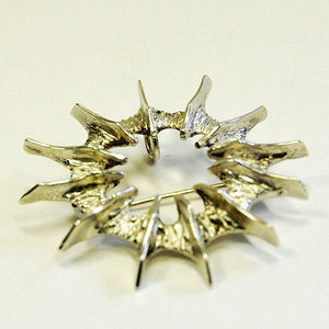 Silver brooch 'Abstract Sun' by Studio Else & Paul- Norway 1970s