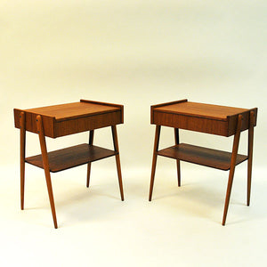 Pair of midcentury Teak night tables -Sweden 1950/60`s