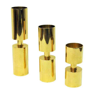 Zoégas Brass Candleholder set of three 1976, Sweden