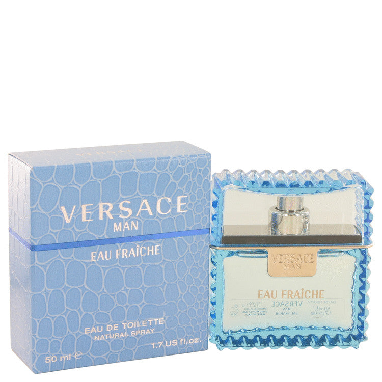 Versace Man by Versace Eau Fraiche Eau De Toilette Spray (Blue) 1.7 oz for Men