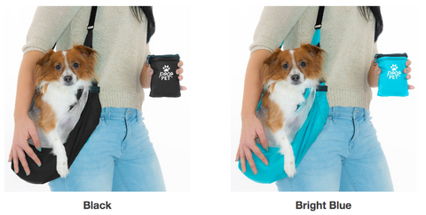 pocopet small dog portable carrier black and blue colors