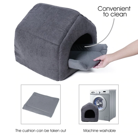 machine washable dog house bed