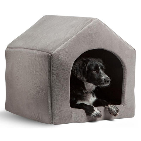 Image of 2 in 1 dog house bed