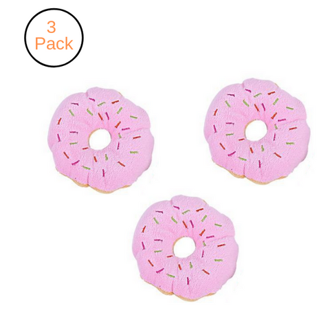 (3 Pack) Donuts Squeaking Toy