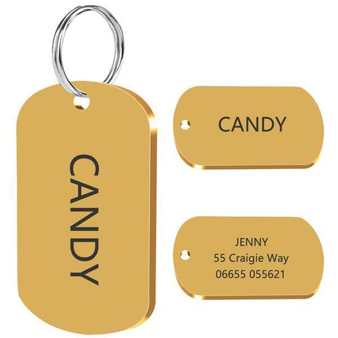 Gold military dog tags