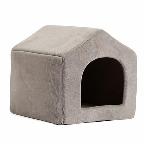 Image of Gray 2 in 1 dog house bed