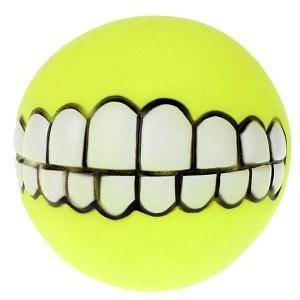 Image of Funny Teeth Dog Fetch Ball