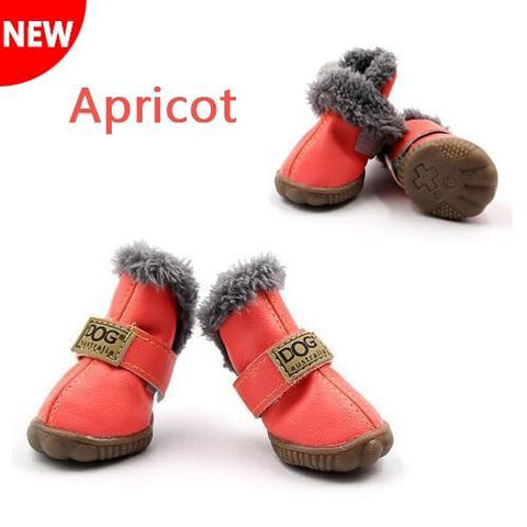 apricot waterproof dog boots