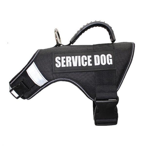 Image of Black service dog harness vest
