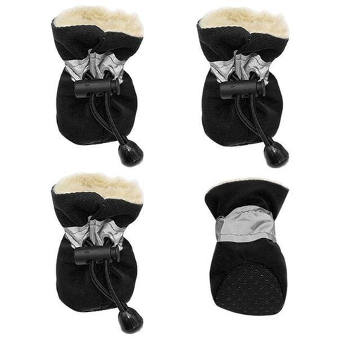 Black waterproof dog booties