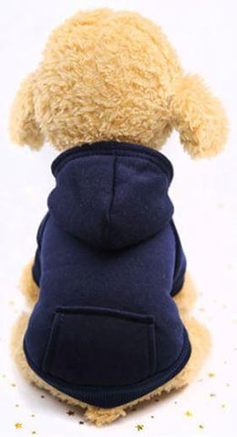 Blue hoodie winter dog sweater