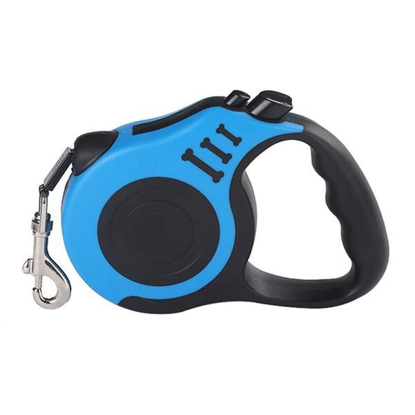 blue Retractable dog leash