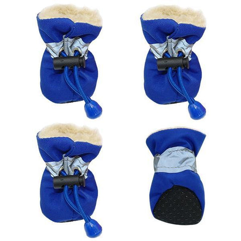 blue waterproof dog booties