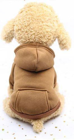 Brown hoodie dog sweater