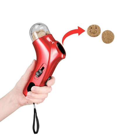 Fun and easy to use dog treat launcher