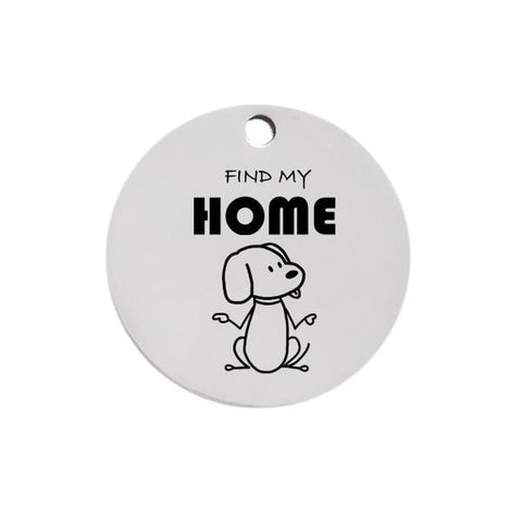 Find my home dog id name tag