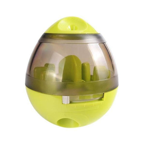 Yellow interactive dog toy iq automatic ball